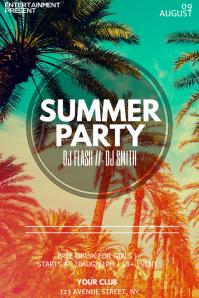 Summer night flyer template
