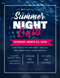 Summer Night Gala Event Flyer