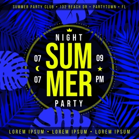 SUMMER NIGHT PARTY BANNER Instagram Post template