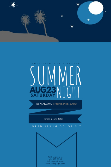 Azure Flyer Template | Summer Night Party Flyer Template Postermywall