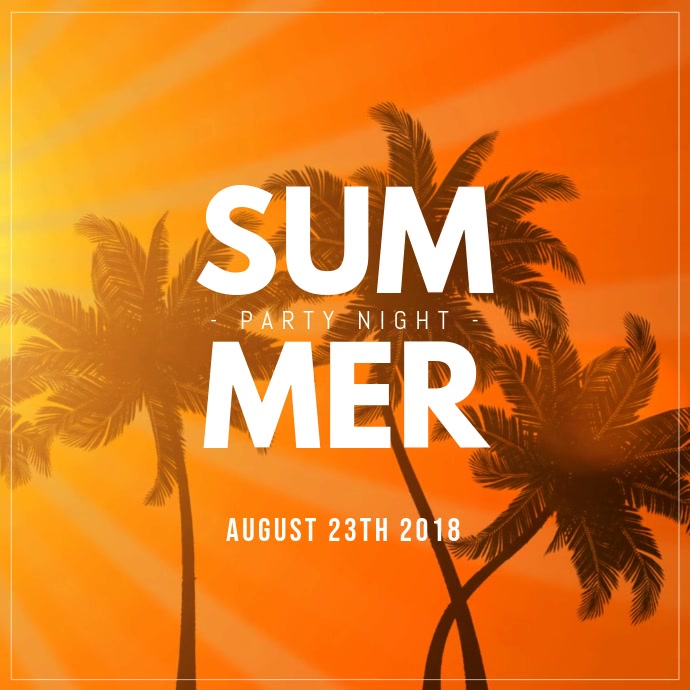 Summer Night Party video template for instagram