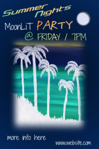 Summer Nights Moonlit Party Poster