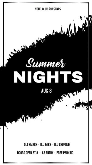 SUMMER NIGHTS VIDEO Tampilan Digital (9:16) template