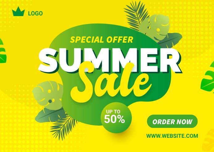 Summer offer Banner Design Template Kartu Pos