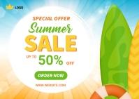 Summer Offer Banner Design Template Poskaart
