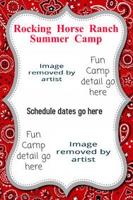 Summer Outdoor Camp Event Poster Flyer Announcement