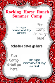 Summer Outdoor Camp Event Poster Flyer Announcement
