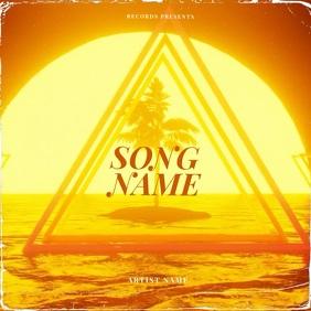 Summer Palm sun CD Album Cover Video Template Albumcover