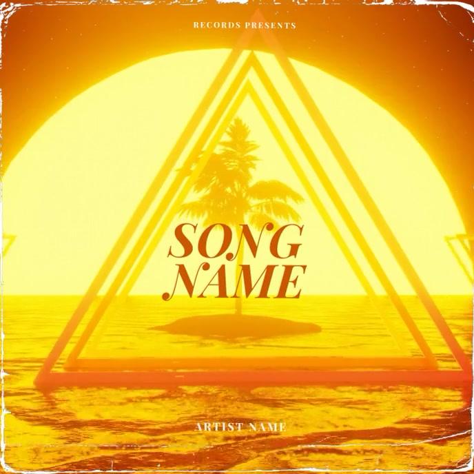 Summer Palm sun CD Album Cover Video Template