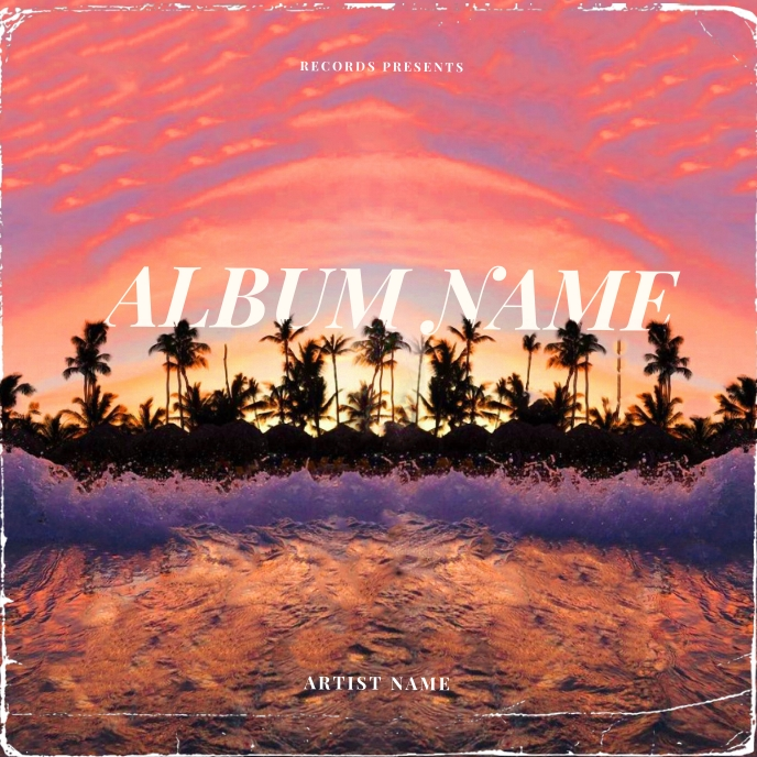 Summer Paradise CD Album Cover Template