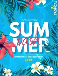 Summer party ,pool party ,spring Flyer (US Letter) template