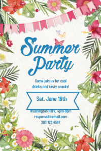 Summer Party flyer/poster
