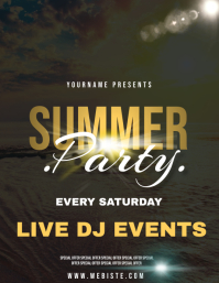 SUMMER PARTY AD FLYER TEMPLATE