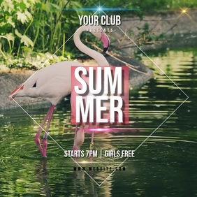SUMMER PARTY AD INSTAGRAM POST Template