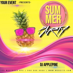 SUMMER PARTY AD TEMPLATE Instagram Post