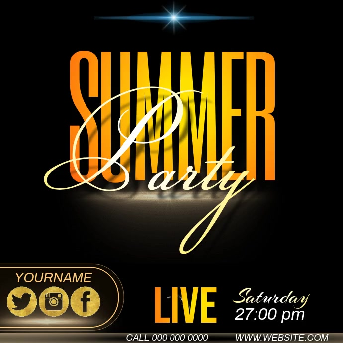 summer party ad template Instagram-opslag