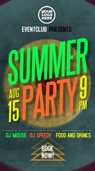 Summer Party animation instagram story template