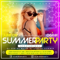 SUMMER PARTY BANNER Instagram Post template