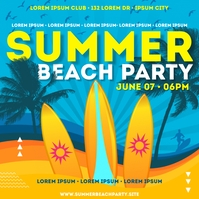 SUMMER PARTY BANNER Post Instagram template