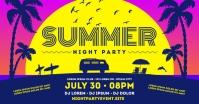 SUMMER PARTY BANNER Facebook 共享图片 template