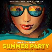 SUMMER PARTY BANNER Instagram-Beitrag template