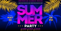 SUMMER PARTY BANNER Facebook Shared Image template