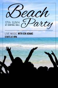 Summer Party beach party flyer template