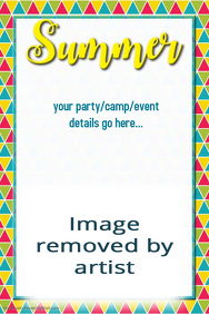 Summer Party Camp Event Flyer Poster Invitation Vacation