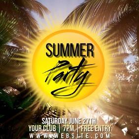 SUMMER PARTY CARD TEMPLATE Quadrat (1:1)