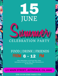 Summer Party Celebration Event Flyer Template