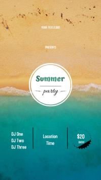 Summer Party Historia de Instagram template