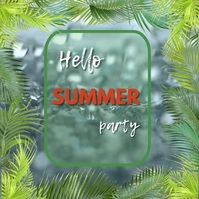 Summer party Kwadrat (1:1) template