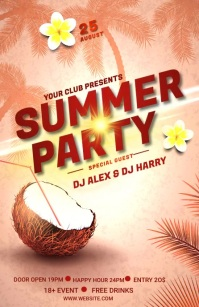 SUMMER PARTY Halv side bred template