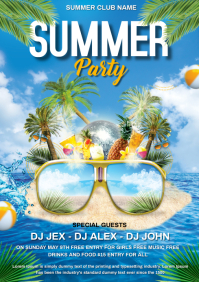 Summer Party A4 template