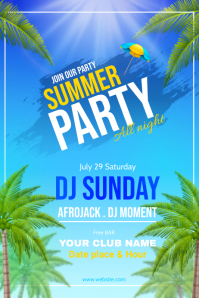 SUMMER PARTY Plakat template