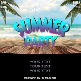 SUMMER PARTY Instagram Post template