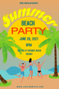 Summer Party Affiche template