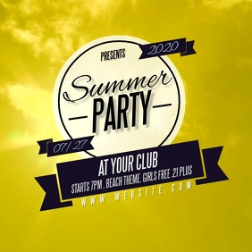 SUMMER PARTY design template