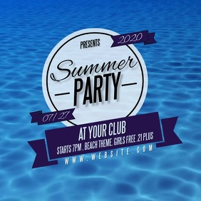 SUMMER PARTY design template Logo