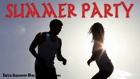 Summer Party Facebook Cover Video (16:9) template