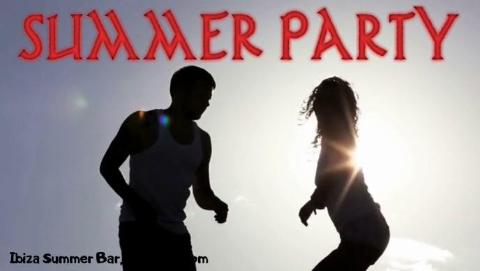 Summer Party Vídeo de portada de Facebook (16:9) template