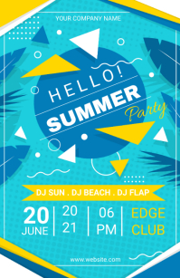 SUMMER PARTY Tabloid template