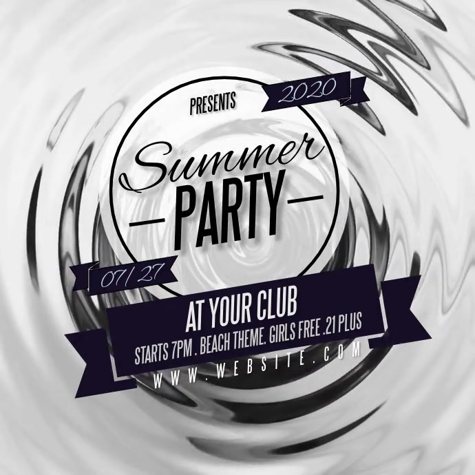 SUMMER PARTY design template Logo