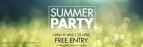 SUMMER PARTY Bannier 2' × 6' template