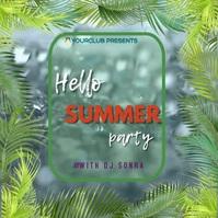 Summer party Quadrado (1:1) template