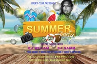 summer party Banner 4' × 6' template