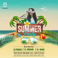 Summer Party Quadrado (1:1) template