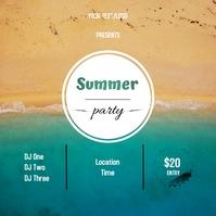 Summer Party Publicação no Instagram template