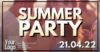 Summer Party Event Outdoor Club Video ad Facebook-annonce template