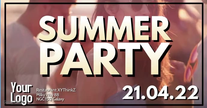 Summer Party Event Outdoor Club Video ad Facebook-Anzeige template